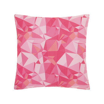 Cushion in percale with origami print