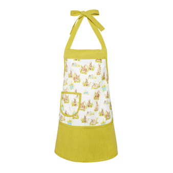 Rabbit girls' apron in cotton