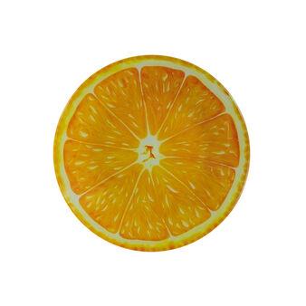 Orange glass plate