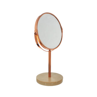 Marble and copper-coloured metal mirror