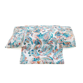 Linen and cotton flat sheet with digital print