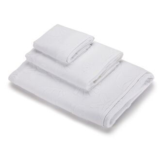 100% cotton towel with marine design and terry