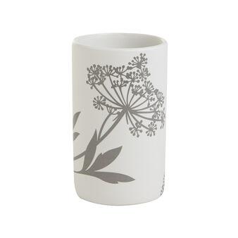 Portaspazzolino ceramica floreale