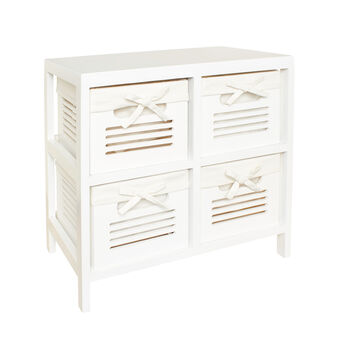 4-drawer wooden unit