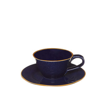George ceramic tea cup with contrasting colour rim