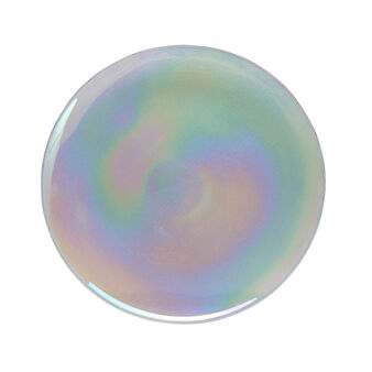 Glass lustre plate charger