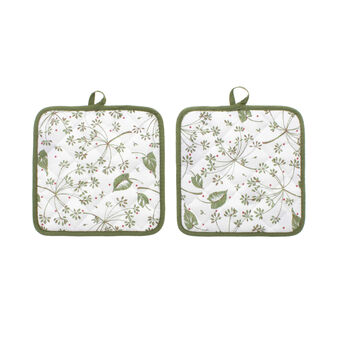 Timo, set of two quilted pot holders
