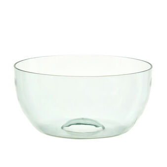 Smooth plastic salad bowl