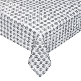 Table cover with lurex openwork