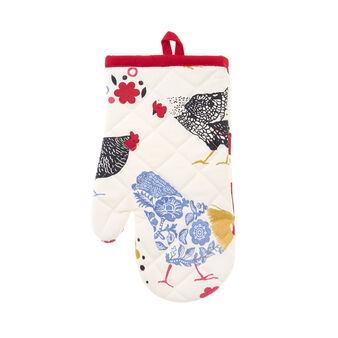 Gipsy Hen quilted cotton oven mitt