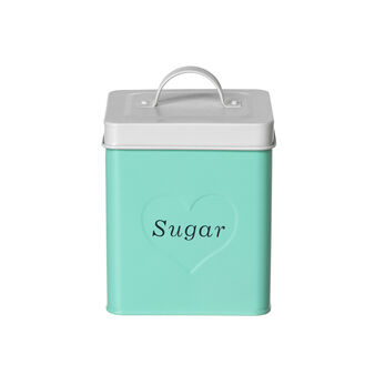 Enamelled Sugar tin