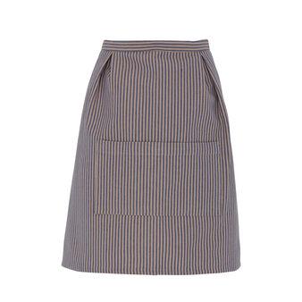 Striped waist apron in 100% cotton