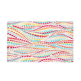 Cotton bath mat with floral print