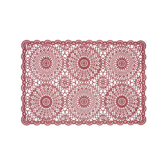 PVC table mat with lace pattern
