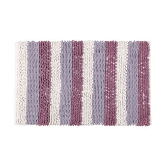 Salt and pepper 100% tufted cotton bath mat