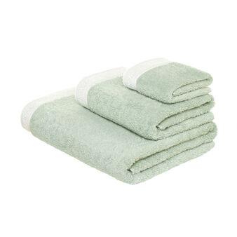Asciugamano in puro cotone con pizzo sangallo