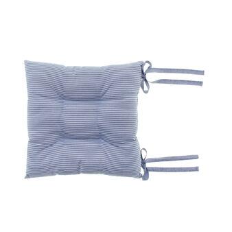 Striped cotton seat pad