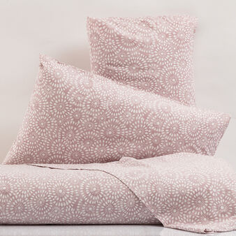 Percale bed linen set with all-over print