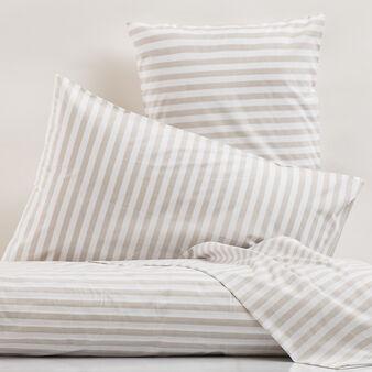 100% cotton striped bed linen set