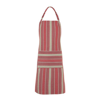 100% cotton bib apron with striped jacquard weave
