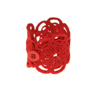 Set of 4 felt napkin rings