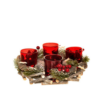 Centrepiece with 4 votive candle holders D 24cm