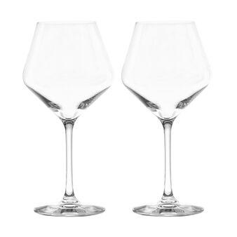 Set 2 calici vino rosso in vetro
