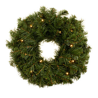 Pine wreath with 20 LED lights D 38cm