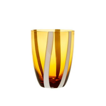 Coloured glass water tumbler