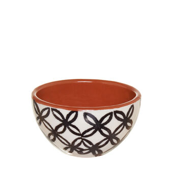 Ceramic dish with ethnic decoration