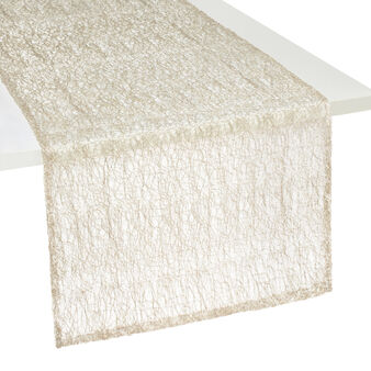 Table runner with lurex weave