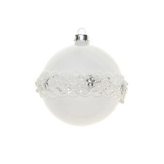 Sfera vetro bianco D 10cm