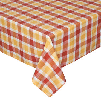 Iridescent check table cloth