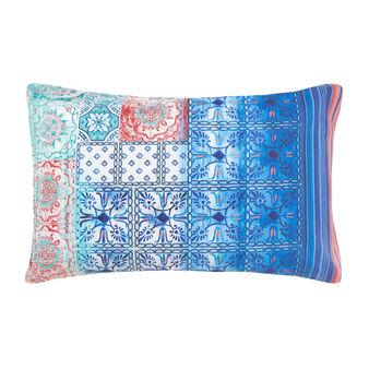 Majolica pattern pillowcase in 100% cotton percale.
