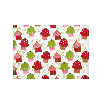 Ribbed table mat with Cupcakes print
