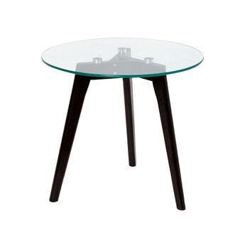 Coffee table in legno e vetro