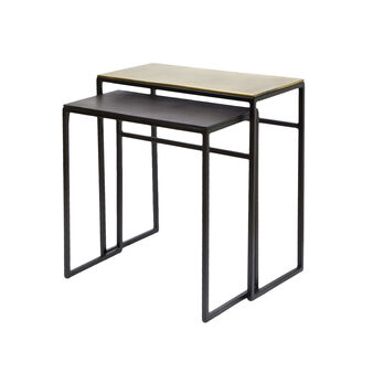 Set of two Twist coffee tables in iron