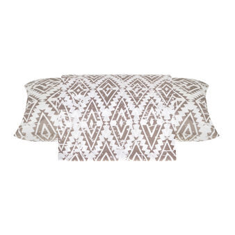 Cotton percale line with ethnic pattern
