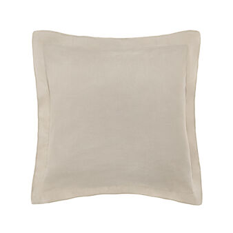 Solid colour cotton and linen cushion