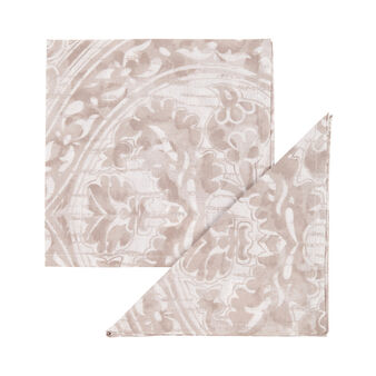 4-pack napkins in 100% damask cotton