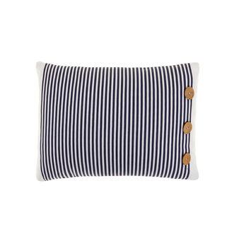 Cuscino rettangolare puro cotone stile navy con bottoni