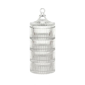 Four-layer cake stand jar in ground glass