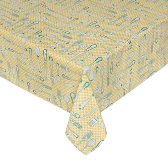 Diana 100% cotton tablecloth with cutlery print