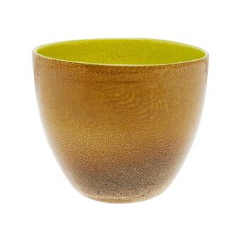 Vaso in vetro pulegoso bicolore