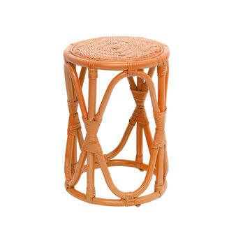 Rattan stool with woven seat