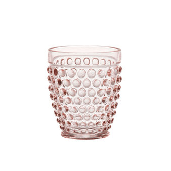 Drinking glass with bubble decoration