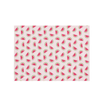 Watermelon table mat in 100% cotton