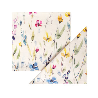 Set of 2 napkins in 100% cotton