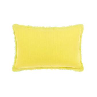 Two-tone 100% linen cushion