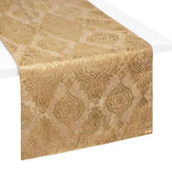 Table runner with coated print